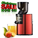 BuySevenSide best juicer Extractor for Low speed extraction produces up to 98% fresh juice with No waste on fruits or vegetables and No harm to vitamins