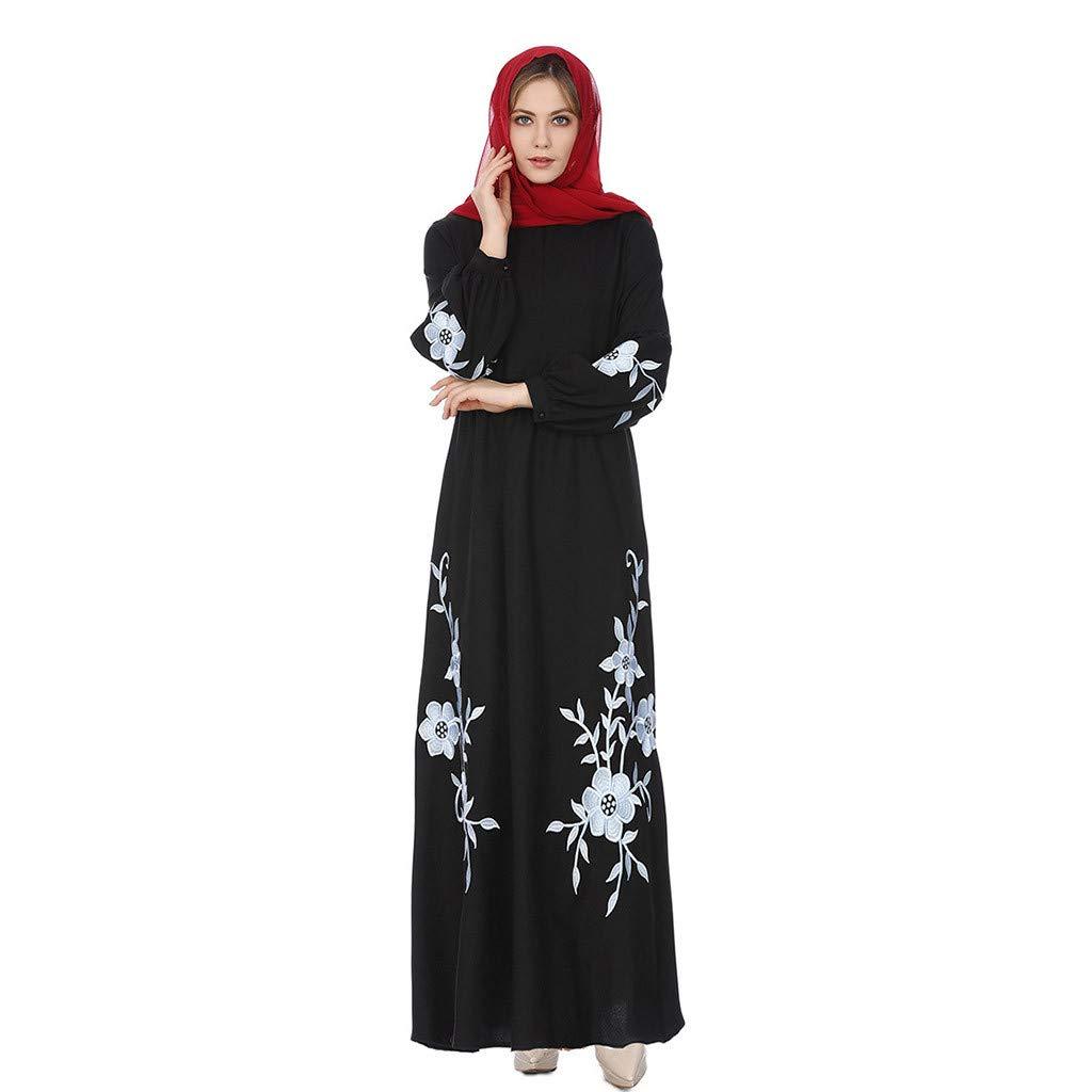 Ladies Kaftan Abaya Jilbab Islamic Muslim Bow Women Long Lace Fashion Maxi Dress