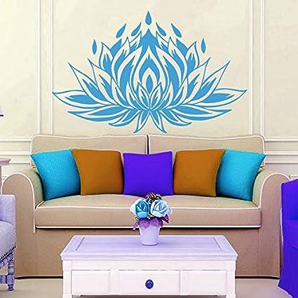 Wall Decals Lotus Flower Floral Meditation Yoga Studio Bedroom