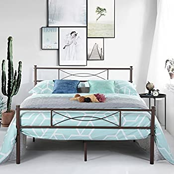 Amazon Com Simlife Stable Metal Bed Frame With Two
