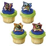24 Teenage Ninja Turtles Cupcake Ring Toppers - Birthday Party Favors