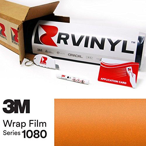 3M 1080 S344 Satin Canyon Copper 5Ft X 1Ft W  Application Kit Vinyl Vehicle Car Wrap Film Sheet Roll