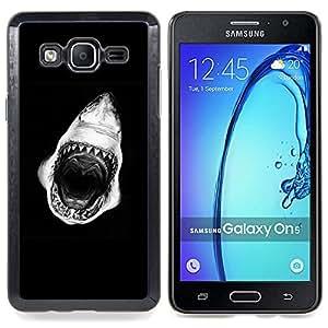 - Shark Mouth Teeth Black White - - Monedero pared Design Premium cuero del tir???¡¯???€????€????????????&