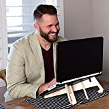 Deluxe Laptop Stand for Desk, Foldable + Adjustable