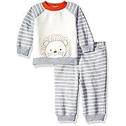 Little Me Baby Boys' Sweatshirt and Pant Set, Grey Heather Multi, 6 Months