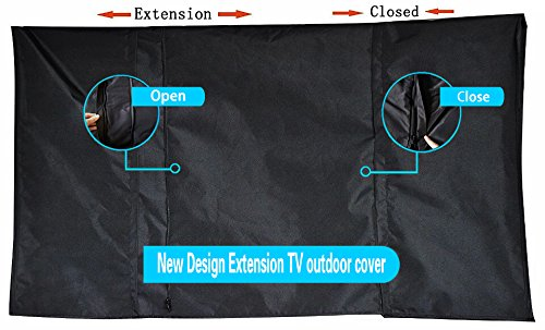 New Design Extension TV outdoor cover (48''-56'' black)-Patent Pending … by BBQ Coverpro