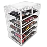 Sorbus Cosmetics Makeup and Jewelry Big Storage Display-Stylish Vanity, Bathroom Case, 4 Large, 2 Small Drawers, Clear