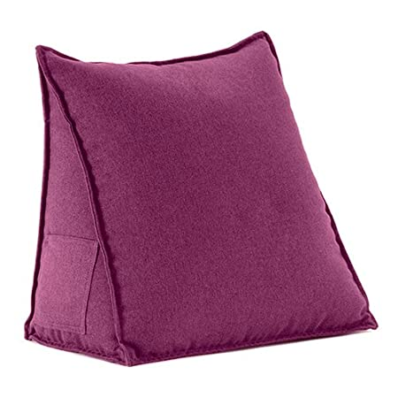Pewter Soft Wool Feel Support Cushion Bean Bag Bed Wedge