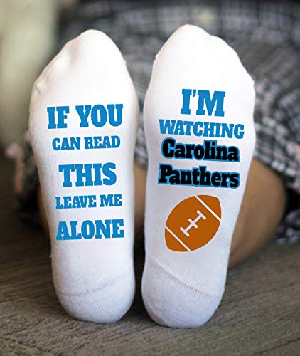 Carolina Panthers Socks American Football Birthday Gifts Game -