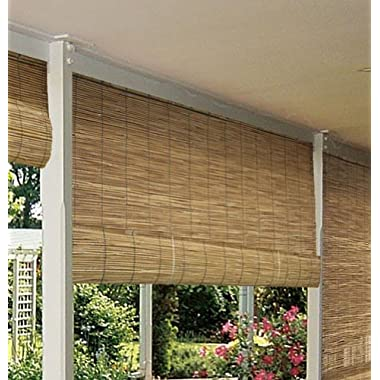 Radiance 0360726 Natural Reed Woven Light Filtering Roll Up Window Blind, 72-Inch Wide by 72-Inch High