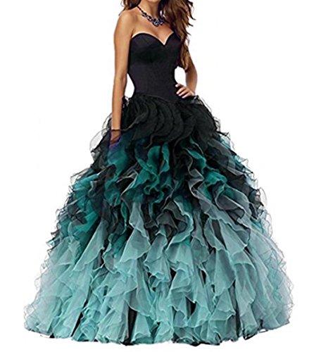 long black puffy prom dresses - 9