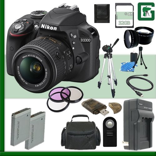 Nikon Camera 18 55mm Greens Bundle