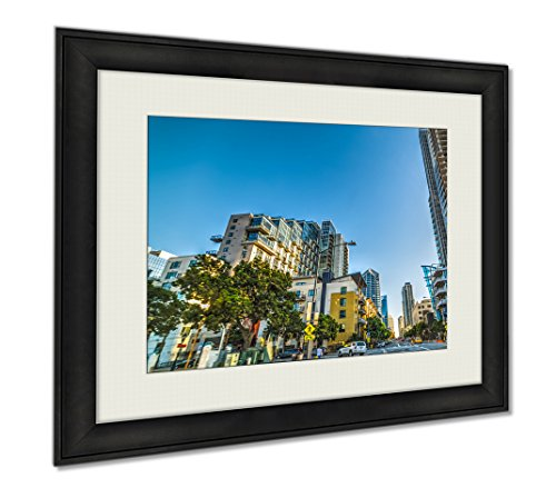 Ashley Framed Prints Skyscrapers In Downtown San Diego California USA, Wall Art Home Decoration, Color, 26x30 (frame size), - Stores Downtown San Diego