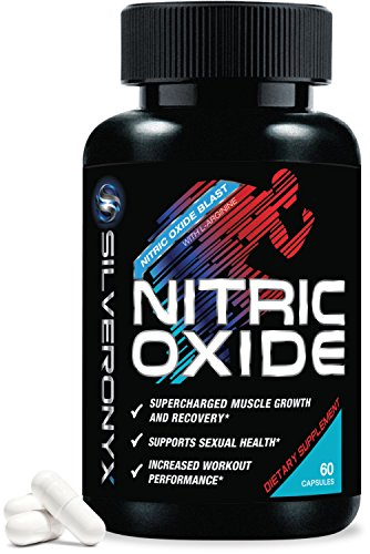 Nitric Oxide Supplement Extra Strength L Arginine 1300mg - Citrulline Malate, AAKG, Beta Alanine - Premium Muscle Building NO Booster for Strength, Vascularity & Energy to Train Harder - 60 Capsules