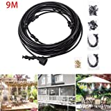 Simply Silver - 9M Outdoor Misting System Fan Cooler Water Cooling Patio Mist Garden Kit Durable