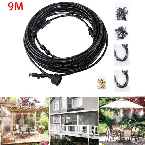 Simply Silver - 9M Outdoor Misting System Fan Cooler Water Cooling Patio Mist Garden Kit Durable by Simply Silver