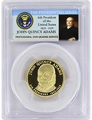 2008 Adams Presidential S Proof John Quincy Adams Presidential Dollar PR-69 PCGS