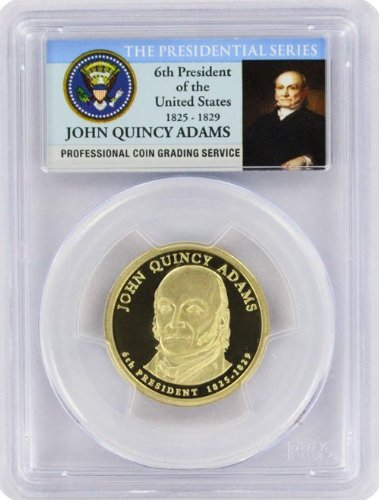 2008 Adams Presidential S Proof John Quincy Adams Presidential Dollar PR-69 PCGS