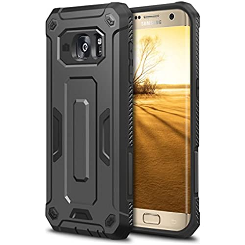 Galaxy S7 Edge Case, HianDier Rugged Anti-slip Armor Galaxy S7 Edge Protective Case Hard Shell Shockproof Grip Sales