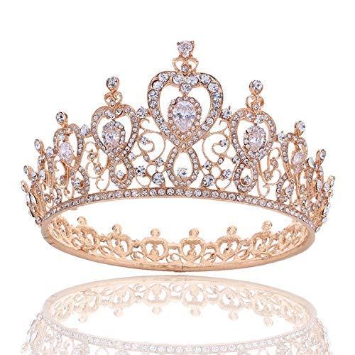 Wedding Crown, Beautiful headdress/Queen'S Baroque Crown Decorations Luxurious Zircon Bridal Crown Court Wedding Accessories by Junson (Image #4)
