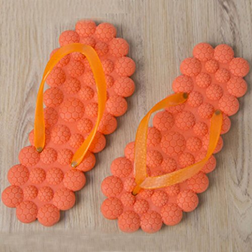 Summer Orange Foam Women Slip Non Slippers Flops Beach Massage Bath Flip AMA Slippers TM Shoes xHwWgRq