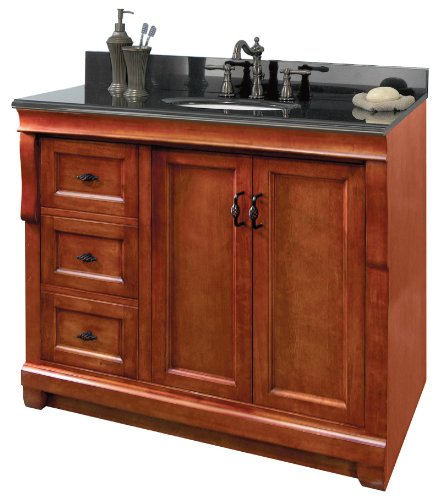 Foremost NACA3621DL 36-Inch Naples Vanity, Warm Cinnamon Cinnamon Bathroom Vanity
