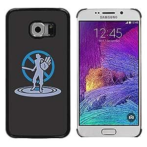 Be Good Phone Accessory // Dura Cáscara cubierta Protectora Caso Carcasa Funda de Protección para Samsung Galaxy S6 EDGE SM-G925 // Art No Violence Stop Bat
