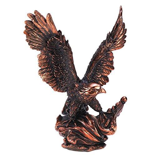 Smart Living Company Large, Majestic Black Rose Golden Resin Cool Eagle Statue