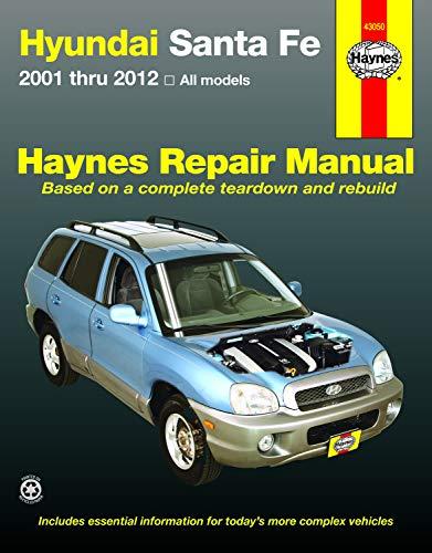 Hyundai Santa Fe: 2001 thru 2012 All models
