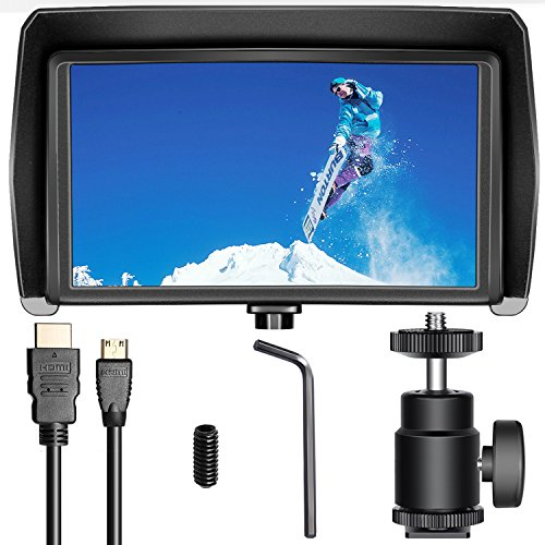 Neewer NW-570 5.7 inches Ultra-thin on Camera Field Monitor IPS Screen 1080P Full HD 1920x1080 Support 4K HDMI Input/Output for Canon Nikon Sony DSLR Cameras and Zhiyun Feiyu MOZA Gimbal Stabilizer