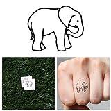 Tattify Tiny Elephant Temporary Tattoo - Baby (Set of 2) by Tattify