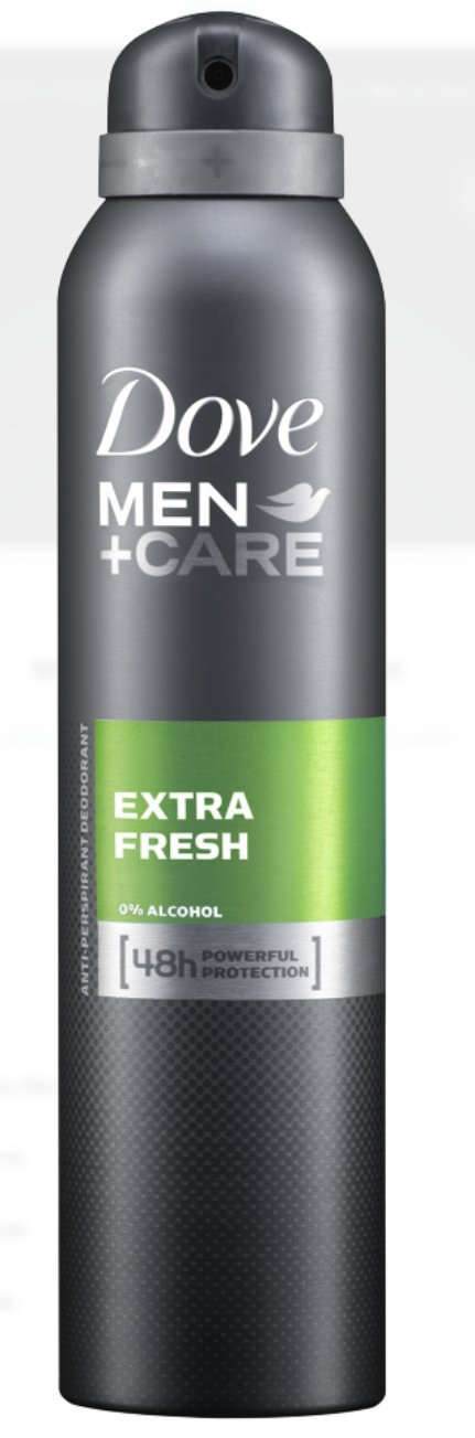Dove Anti-Perspirant Anti-Transpirant Extra Fresh Men+Care 48H Powerful Protection 250Ml/8.5 Oz (Extra Fresh Men+Care 48H Powerful Protection, 12X 250Ml/8.5 Oz)