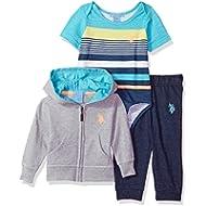 U.S. Polo Assn. Baby Boys T-Shirt, Jacket and Pant Set