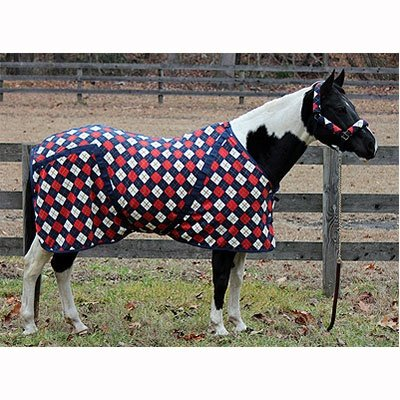 TuffRider Fleece Printed Dress Sheet - Size:63 Color:Navy/Red/White Argyle