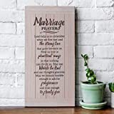 Marriage Prayer Plaque - Rustic Wood Sign,Christian Decor, Unique Wedding Gifts, Bridal Shower Gifts and Engagement Gifts for Couple, Bride, Husband and Wife - Bible Verse Wall Art