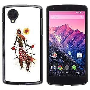 iBinBang / Funda Carcasa Cover Skin Case - African Tribal Man Art Scarf Pattern Sun - LG Google Nexus 5 D820 D821