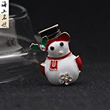 Chrisas cartoon ladies jewelry drop of oil at sea to stay Meng hat snowman brooch brooch pin