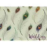 Wedding Guest List: Elegant Peacock Feather, Wedding Guest Tracker, Wedding Guest Planner List, List Names and Addresses of People to Invite, Gift Received and Thank You Card Log