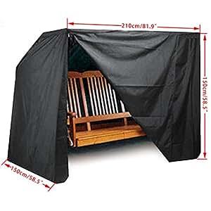 befied funda de protección para mobiliario de jardín patio exterior impermeable Anti- UV 210x 150x 150cm