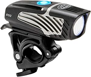 NiteRider Lumina Micro 850 Front Bike Light LED USB Rechargeable Water Resistant Mountain Road Commuting City Urban Cycling Safety Flashlight, Black, 6783