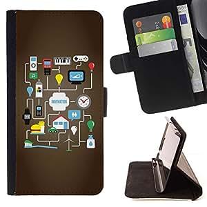 Idea Google Juego para Android- Modelo colorido cuero de la carpeta del tirón del caso cubierta piel Holster Funda protecció Para Apple (5.5 inches!!!) iPhone 6+ Plus / 6S+ Plus