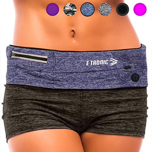 Running Belt : Best Waist Pack Workout Belts Fits All Phones (Blue) Fanny Pouch Travel Money Belt Jogging Accessories. Gift Ideas for Women & Girls & Mom & Gifts for Her Pocket Bag Cell Phone Holder