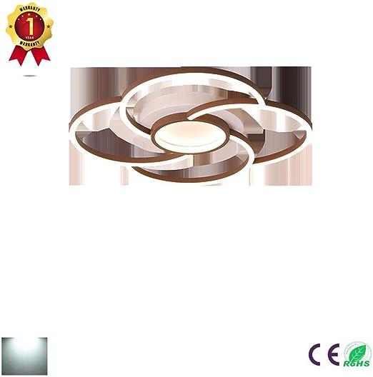 ZZOOK Plafones Led Techo Habitacion Iluminacion Plano Downlight Circular Acrílico Adecuado para Muebles Salon Interior Plafon,Dimmable,63×63cm44w: Amazon.es: Hogar