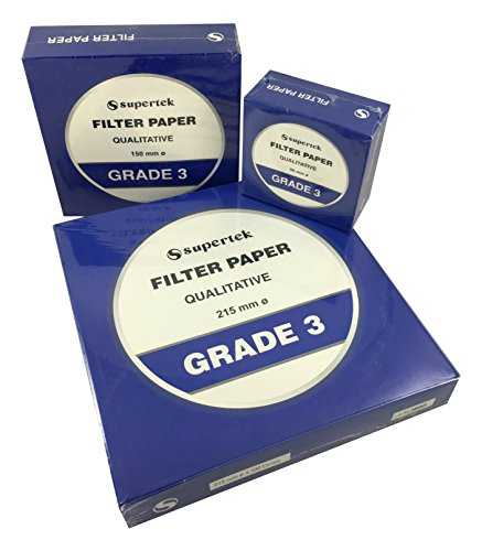 Supertek Filter Paper, Qualitative, Grade 3, 150 mm (Diameter) Pack of 100 sheets by Supertek (Image #1)'