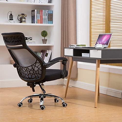 Office Chair, Home Computer【US Fast Delivery】Ergonomic Adjustable Office Chair Network Chair LiftBreathable Mesh Chair Swivel Chair Staff Chair lkoezi (B:74x60x30cm, Black)