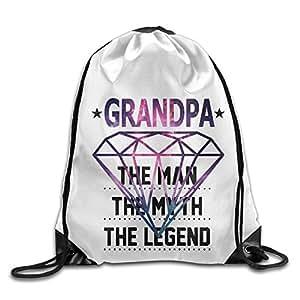 Super Dad Gift Man Myth Legend Galaxy Diamond Pattern Printed Bundle Mouth Single Pocket Summer Drawstring Backpack