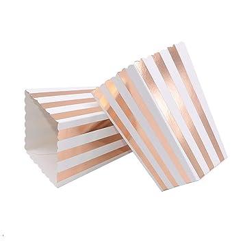 VAINECHAY 12PCS Cajas de palomitas Carton Maíz Caja Papel ...