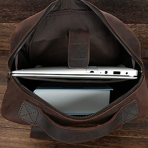 handtas Messenger Bedrijfsaktentas Retro Jxth Lederen Classic voor Laptop mannen Horse Bruin Schoudertas wy1w4Xzqn