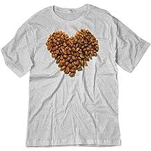 BSW Men's Coffee Heart Shape Beans Java Love Shirt