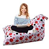 alibalala Bean Bag | Stuffed Animal Storage Bag | Lounger Chair for Kids, Teens and Adults | Extra Large | 100% Cotton Premium Canvas 100 L / 26 Gal